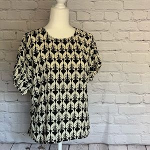 H&M Greyhound Print Blouse